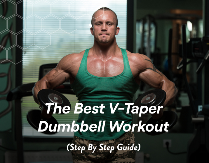 building the V-taper is done through back exercises set out to increase lat width and thickness